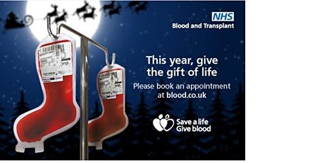 Give Blood  this Christmas tickets