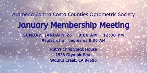 ACCCOS January Membership Meeting