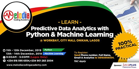 LEARN PREDICTIVE ANALYTICS USING PYTHON & MACHINE LEARNING tickets