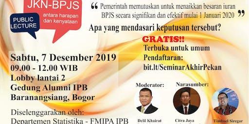 Public lecture on JKN-BPJS: antara harapan dan kenyataan