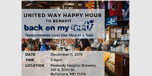 United Way Fundraiser & Mixer - Baltimore City DPW at Peabody Heights Brewery