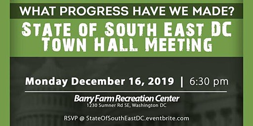State of Southeast DC Town Hall Meeting