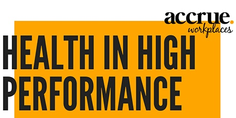 Health in High Performance Keynote Presentation with Q & A tickets