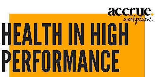 Health in High Performance Keynote Presentation with Q & A