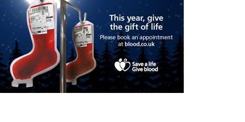 Save a life this Christmas. Give Blood
