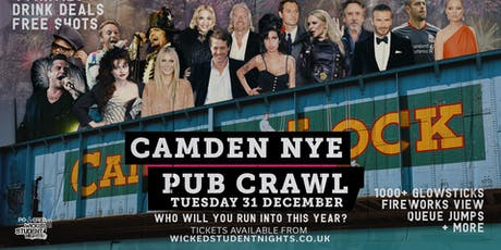 NYE PUB CRAWL - CAMDEN (FIREWORKS VIEW) tickets