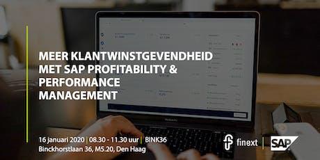 Meer klantwinstgevendheid met SAP Profitability & Performance Management tickets