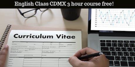 "Mini Curso "" Curriculum Vitae (CV) 3 horas Gratis entradas"