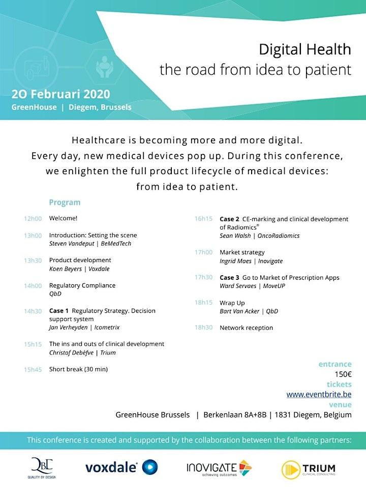 Afbeelding van Digital Health: the road from idea to patient