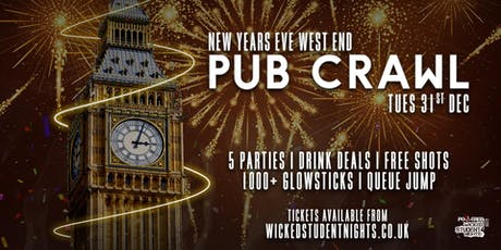 NYE PUB CRAWL - CENTRAL LONDON tickets