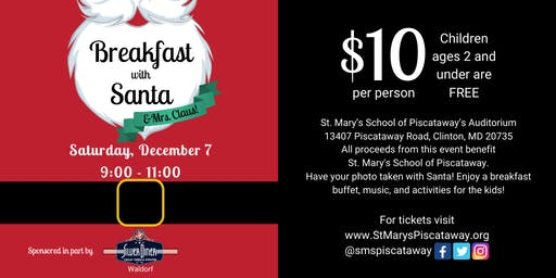 Breakfast with Santa at St. Mary's of Piscataway
