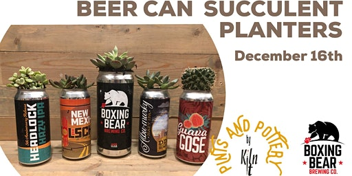 Beer can succulent planters 4 pack for $30