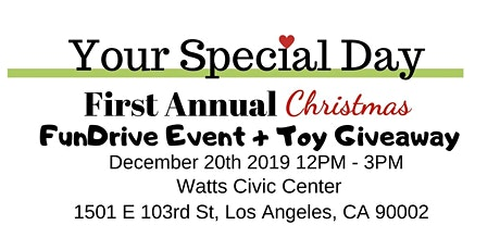 Your Special Day's First Annual Holiday Fundraiser + Toy Giveaway tickets