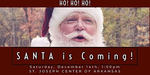 Photos with Santa at St. Joseph Center of Arkansas!
