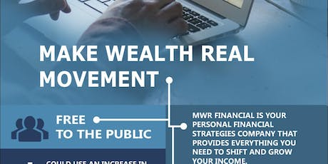 Make Wealth Real (MWR) Wealthy Wednesday Social tickets