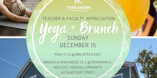 Teacher and Faculty Appreciation Event: Yoga and Brunch
