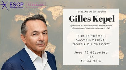 Streams Média reçoit Gilles Kepel billets