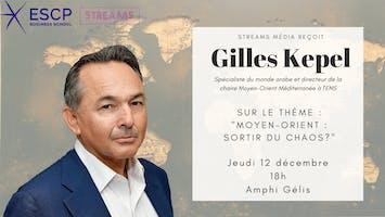 Streams Média reçoit Gilles Kepel