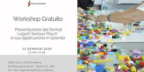 Presentazione del format Lego® Serious Play®  e sua applicazione in azienda biglietti