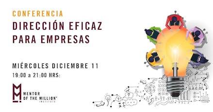 Conferencia: Dirección Eficaz para Empresas boletos