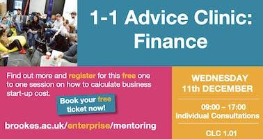 1-1 Advice Clinic: FINANCE