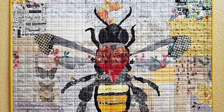 'Honey Bee' Laura Heine Fabric Collage Class tickets