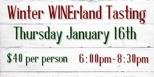 Winter WINErland Tasting