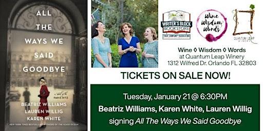Beatriz Williams, Karen White, and Lauren Willig Book Signing