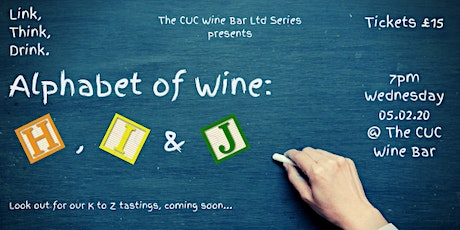 'Alphabet of Wine': H, I & J (UC) tickets