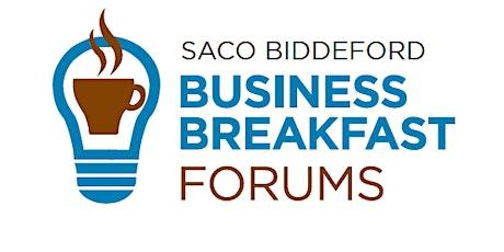 Saco Biddeford Business Forum: Startups in the Mills tickets