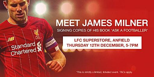 James Milner - 'Ask a Footballer' Book Signing