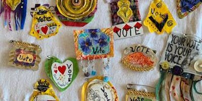 Vote Pin Workshop with the Apronista Collective