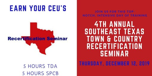 Town & Country CEU Recertification Seminar - LATE