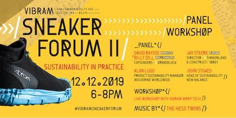 Sneaker Forum II: Sustainability in Practice tickets