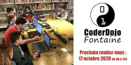 CoderDojo Fontaine - 17/10/2020 billets
