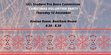 UCL Student Pro Bono Committee Volunteer Party! tickets