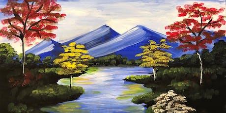 Bright mountain landscape tickets