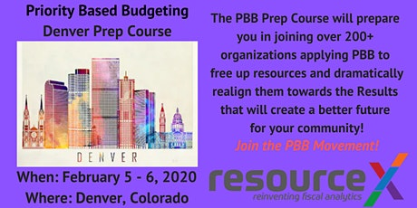 Priority Based Budgeting Denver Prep Course tickets