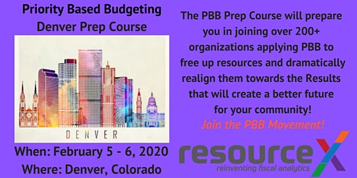 Priority Based Budgeting Denver Prep Course