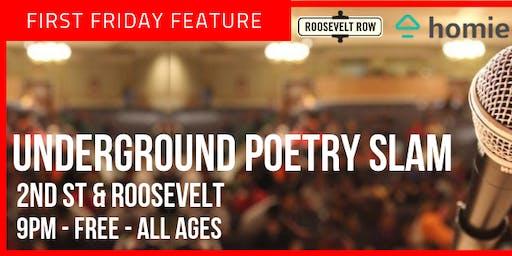 Underground Poetry Slam | First Friday Artwalk