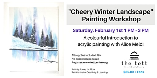 """Cheery Winter Landscape"" Painting Workshop"
