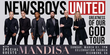 The Newsboys UNITED - with Mandisa | Richmond, VA tickets