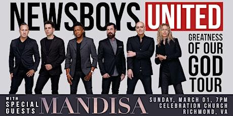 The Newsboys UNITED - with Mandisa | Richmond, VA tickets