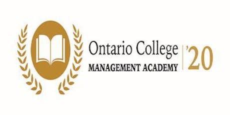 Ontario College Management Academy 2020 tickets