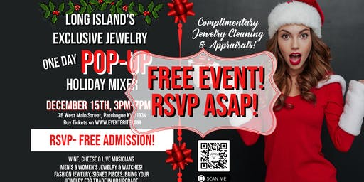 Long Island's Exclusive Jewelry Pop Up Holiday Mixer !