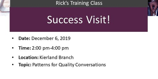 Rick for a pop up regarding conversations