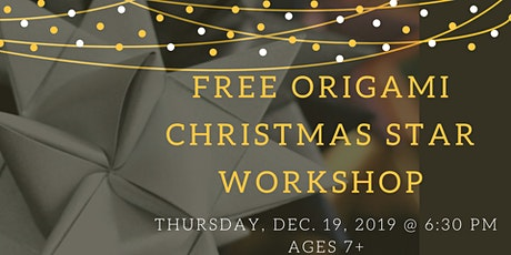Free Origami Christmas Star tickets