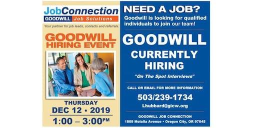 Goodwill is Hiring - Oregon City - 12/12/19
