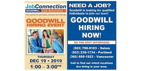Goodwill is Hiring - Portland - 12/19/19 tickets