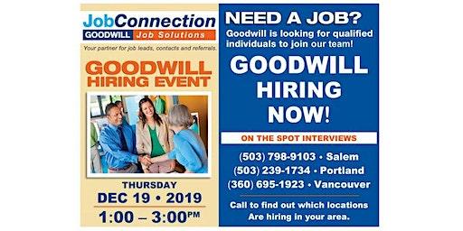 Goodwill is Hiring - Cedar Hills - 12/19/19
